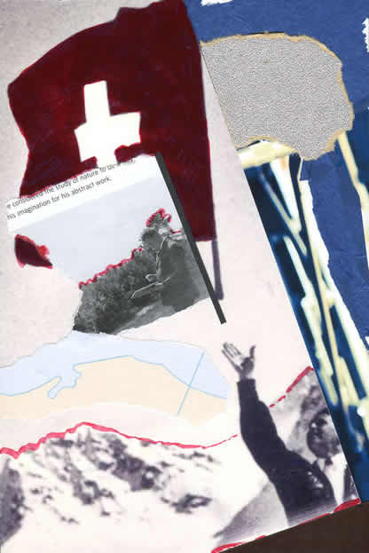 030 - did Kurt Schwitters think Franz Hug a tosser? Collage by David Smith