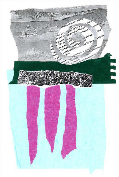 034 - the compromise between thinking and breathing. Collage by David Smith