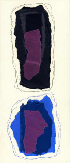 042 - black and blue. Collage by David Smith