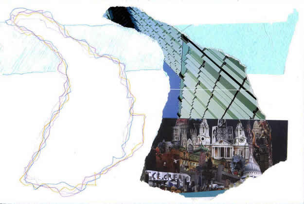 056 - slow release. Collage by David Smith