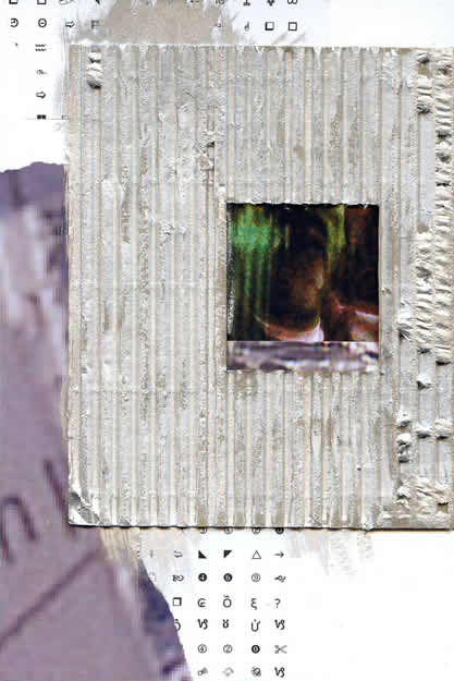 089 - through a glass darkly. Collage by David Smith